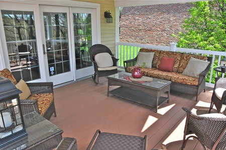 Veranda with Furniture, Alternate View | RoofingContractorPittsburgh.com