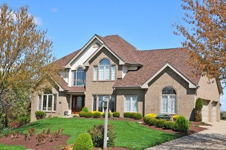 Large Home with Brown Roof | RoofingContractorPittsburgh.com