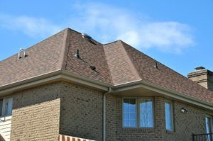 Roof Eaves on a Brick House   roof repair Pittsburgh