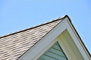 Roof Peak on Blue House