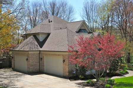 Back View of Large Brick House | RoofingContractorPittsburgh.com