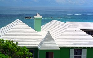 White Roofing Installation
