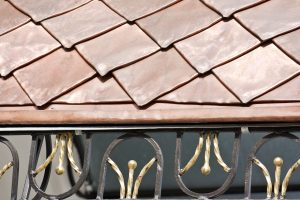 Roof Covered With Copper Plates