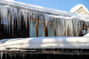 Icicles on Roof Winter