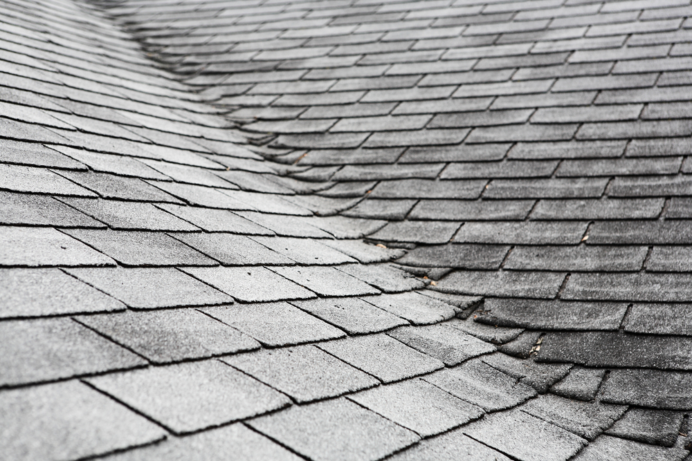 Old Asphalt Shingle Roof with light damage