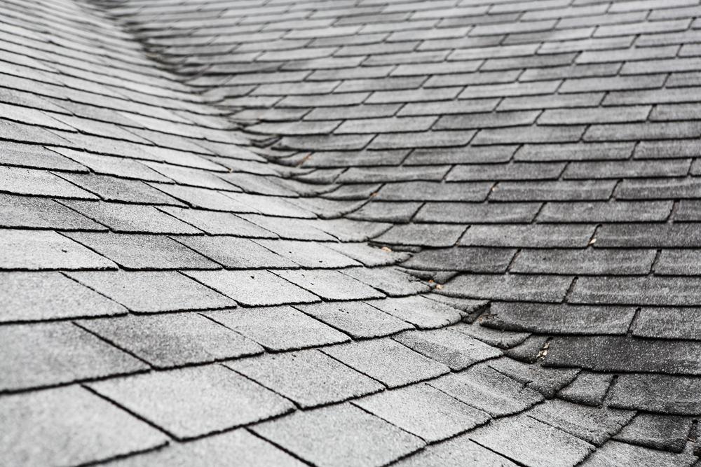 Old Asphalt Shingle Roof with light damage