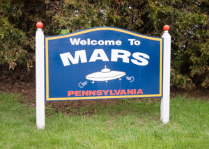 Mars, PA Town Sign